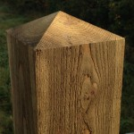 Timber Gateposts
